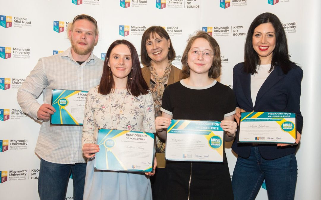 Congratulations to two of our CMHCR members – Shane Owen and Maria Gialama – for their recent MUSE (Maynooth University Student Experience) awards.